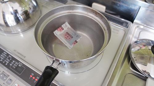 スープを温める