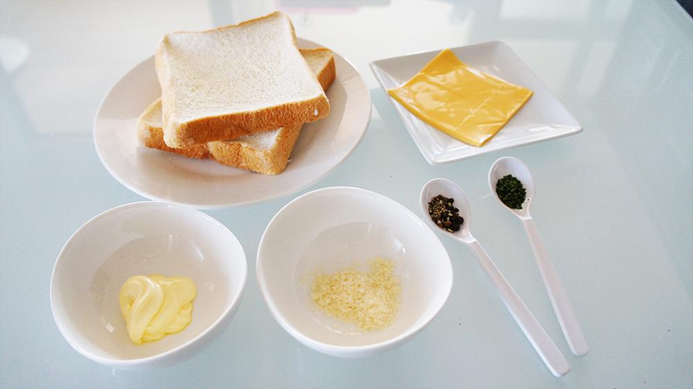 グリルドチーズサンドの材料