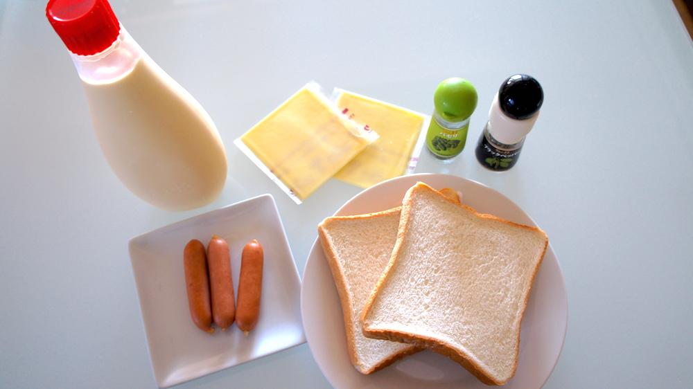チーズトーストの材料